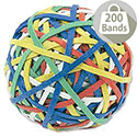Rubber Band Ball 200 Bands Assorted Colours