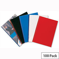 GBC PolyOpaque Binding Covers 300 micron A4 Blue Pack 100