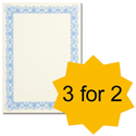 Certificate Papers with Foil Seals 90gsm A4 Blue [Pack 30] [3 For 2] Apr-Jun 2013