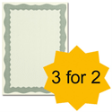 Certificate Papers with Foil Seals 90gsm A4 Green Wave [Pack 30] [3 For 2] Apr-Jun 2013