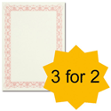 Certificate Papers with Foil Seals 90gsm A4 Reflex Red [Pack 30] [3 For 2] Apr-Jun 2013