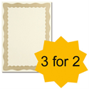 Certificate Papers with Foil Seals 90gsm A4 Bronze Wave [Pack 30] [3 For 2] Apr-Jun 2013