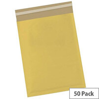 5 Star Office Bubble Lined Bags Size 4 240x320mm Gold Pack of 50