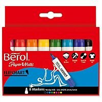 Berol Flipchart Markers Assorted Pack 8