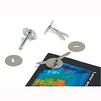 Metal Paper Fasteners with Washers 32mm Pack 200 Whitecroft