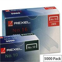 Rexel 16 Staples 6mm Pack 5000