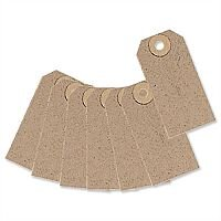 Merit Unstrung Tag Buff 70x35mm Pack 1000
