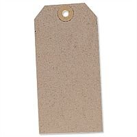Unstrung Tag Buff 120x60mm Pack 1000