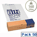 Acorn Big Bin Liners Re-usable Clear/Printed 1092x762mm 142966 Roll 50