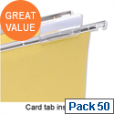 Card Inserts for Suspension File Tabs White Pack 50 5 Star