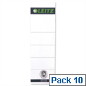 Leitz Replacement Spine Labels for Standard Board Lever Arch File Pack 10