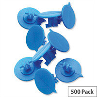 Versapak Blue Button Seals for Mailing Pouches IMSEALBL Pack 500