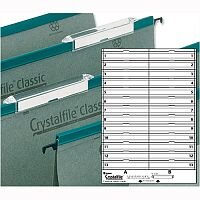 Card Inserts For Rexel Crystalfile Classic Linked Suspension File Tabs White 78290 Pack 50