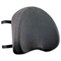 Chair Back Support with Removable Cover Adjustable Strap Black Compucessory