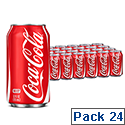 Coca-Cola Soft Drink 330ml Can Pack of 24