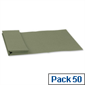 Legal Document Wallet W356xH254mm Green Pack 50 Guildhall