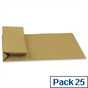 Probate Wallets Manilla Foolscap Yellow Pack 25 Guildhall