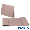 Legal Wallet Double Pocket Manilla 2x35mm Foolscap Buff Pack 25 Guildhall