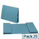 Legal Wallet Double Pocket Manilla 2x35mm Foolscap Blue Pack 25 Guildhall