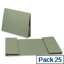 Legal Wallet Double Pocket Manilla 2x35mm Foolscap Green Pack 25 Guildhall