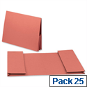 Legal Wallet Double Pocket Manilla 2x35mm Foolscap Orange Pack 25 Guildhall