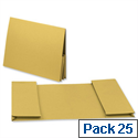 Legal Wallet Double Pocket Manilla 2x35mm Foolscap Yellow Pack 25 Guildhall