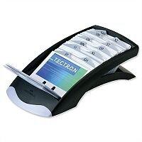 Black Desk Business Card File Indexed Capacity 200 Durable Visifix
