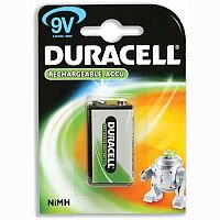 Duracell Rechargeable ACCU NiMH 9V Battery 15038744 Pack of 1