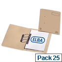 Elba Heavyweight Spring File Manilla 380gsm Foolscap Buff 100092100 Pack 25