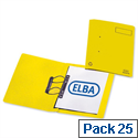 Elba Heavyweight Spring File Manilla 380gsm Foolscap Yellow 100092102 Pack 25