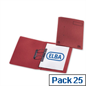 Elba Heavyweight Spring File Manilla 380gsm Foolscap Red 100092105 Pack 25