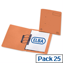 Elba Heavyweight Spring File Manilla 380gsm Foolscap Orange 100092106 Pack 25