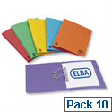 Elba Bright Transfer Spring File Foolscap Assorted 100090189 Pack 10