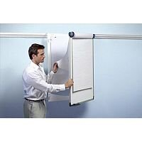 Nobo Pro-Rail Flipchart Holder for Wall Rail Hinged Design 665x970mm