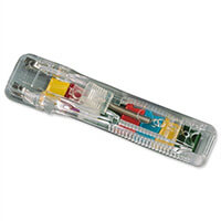 Rapesco Supaclip ''40'' Multicoloured Clips with Dispenser (Pack of 25)