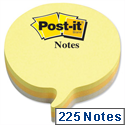 Post-it Speech Bubble Notes Pad of 225 Sheets Yellow and Grey Ref 2007SP 534462