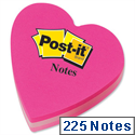 Post-it Heart Shaped Notes Pad of 225 Sheets Pink Tones