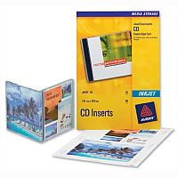 Avery J8435-25 CD DVD Inkjet Case Cover and Tray Insert 151x121 and 151x118mm