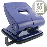 Rapesco 827P 2 Hole Punch 30 Sheets Blue