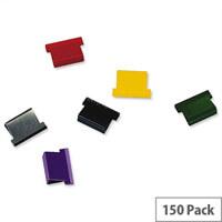 Rapesco Supaclip ''40'' Refill Clips Multicoloured (Pack of 150)