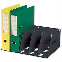 Lever Arch Filing Rack Portable Black Rigid Metal