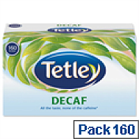 Tetley Tea Bags Decaffeinated High Quality Pack 160