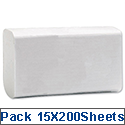 Hand Towels 2 Ply 230x330mm White 160 Sheets M02624