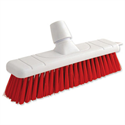 Red Stiff Bristle Outdoor Broom 12 Inch Head Bentley