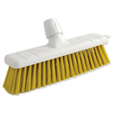 Yellow Stiff Bristle Outdoor Broom 12 Inch Head Bentley