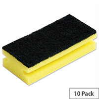 Sponge Back Scourer 140x70x40mm Pack 10
