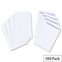 White Box C5 Envelopes Pocket Self Seal 100gsm White Pack 500