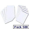 White Box Envelope Pocket Press Seal 100gsm White C5 [Pack 500]
