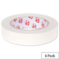 Double Sided Display Tape 25mm x 33m 6 Pack 5 Star