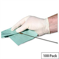 Keepsafe Disposable Powder Free Latex Gloves Large Box 100 Ref GL8883